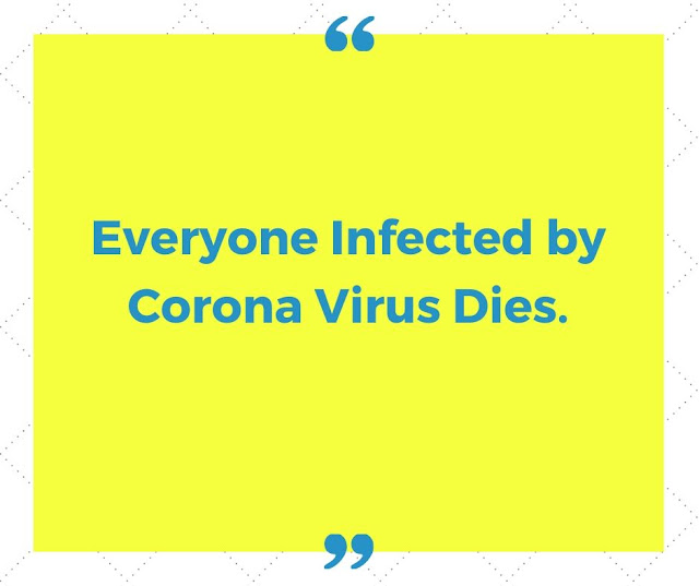 Everyone Infected by Coronavirus Dies