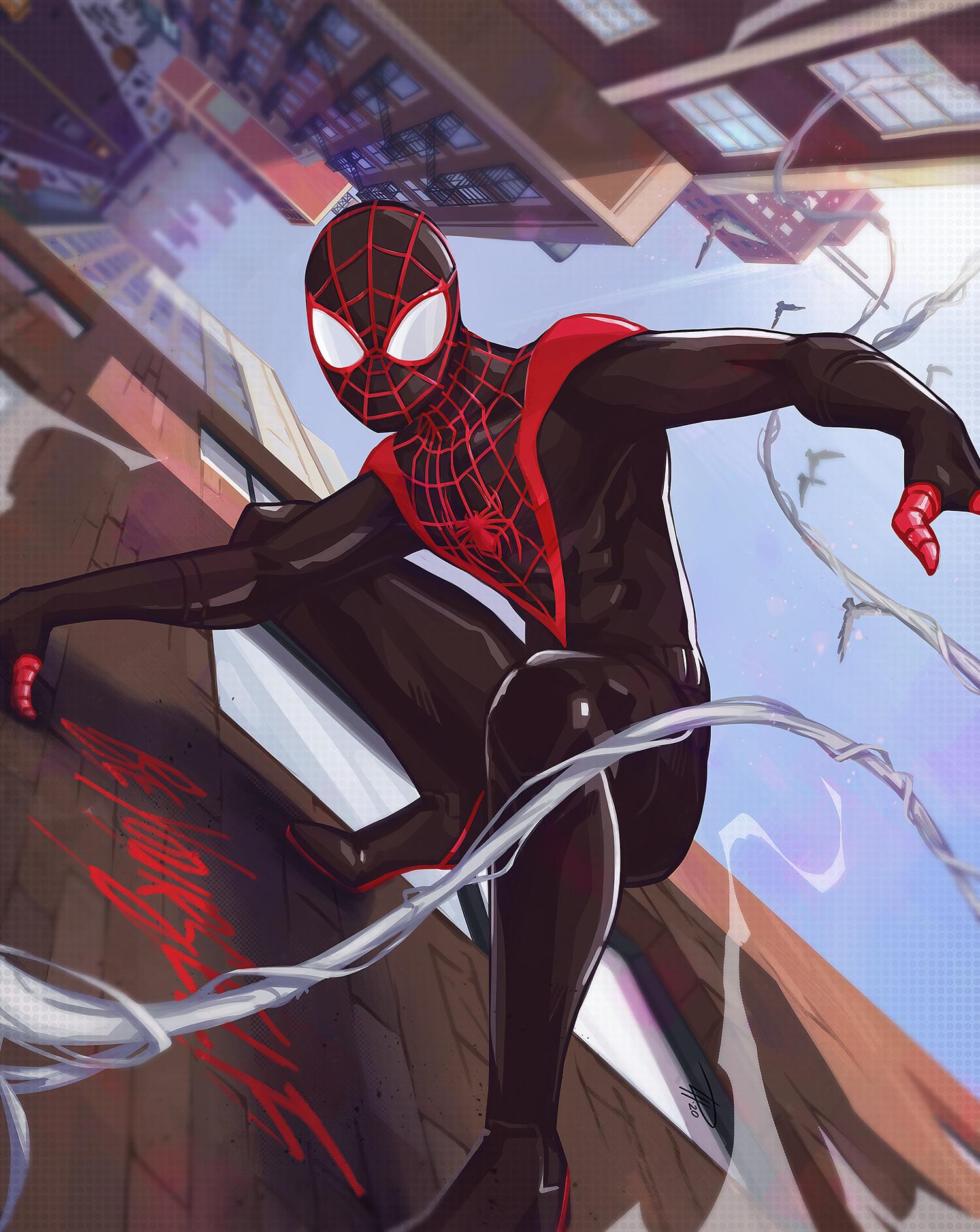 spider-man miles morales wallpaper phone