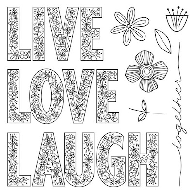 May Stamp of the Month - Live, Laugh, Love