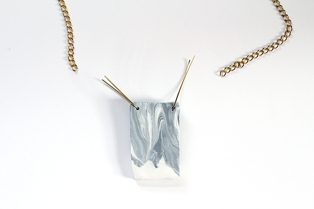 Add a gold chain to this DIY pendant for a fun statement piece