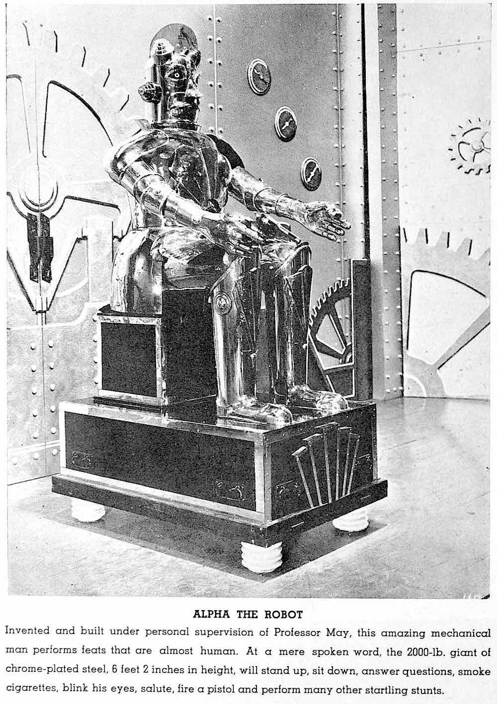 Alpha The Robot at the 1936 California Pacific International Exposition