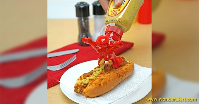 Sir Perky Novelty Condiment Bottle Topper
