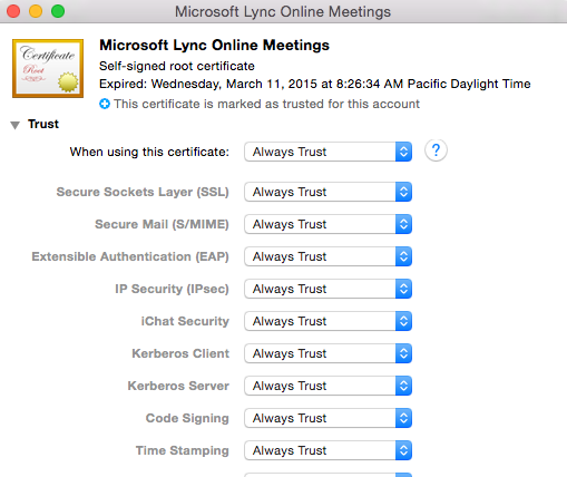 Sign in to Microsoft Lync failed because the service is not