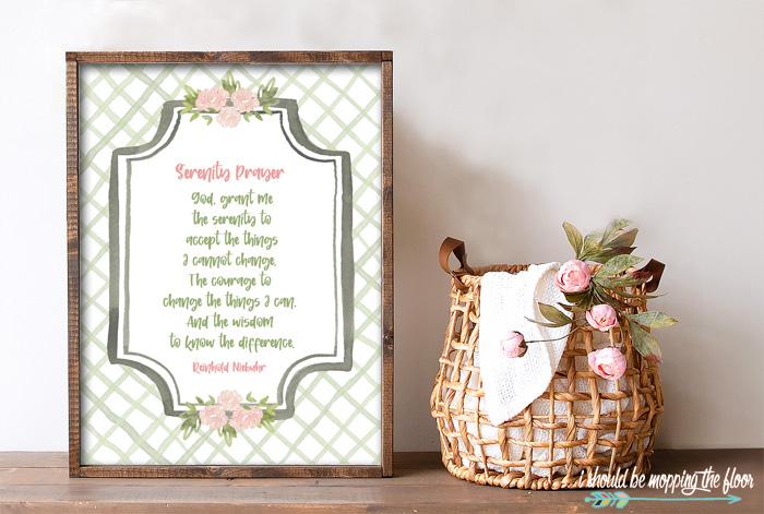 Free Serenity Prayer Printable