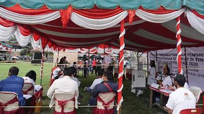 KPU Samosir Simulasikan Pencoblosan dan Penggunaan Sirekap di TPS
