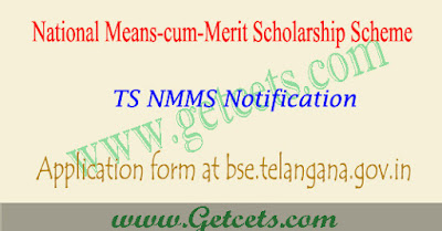 TS NMMS application form 2019, notification