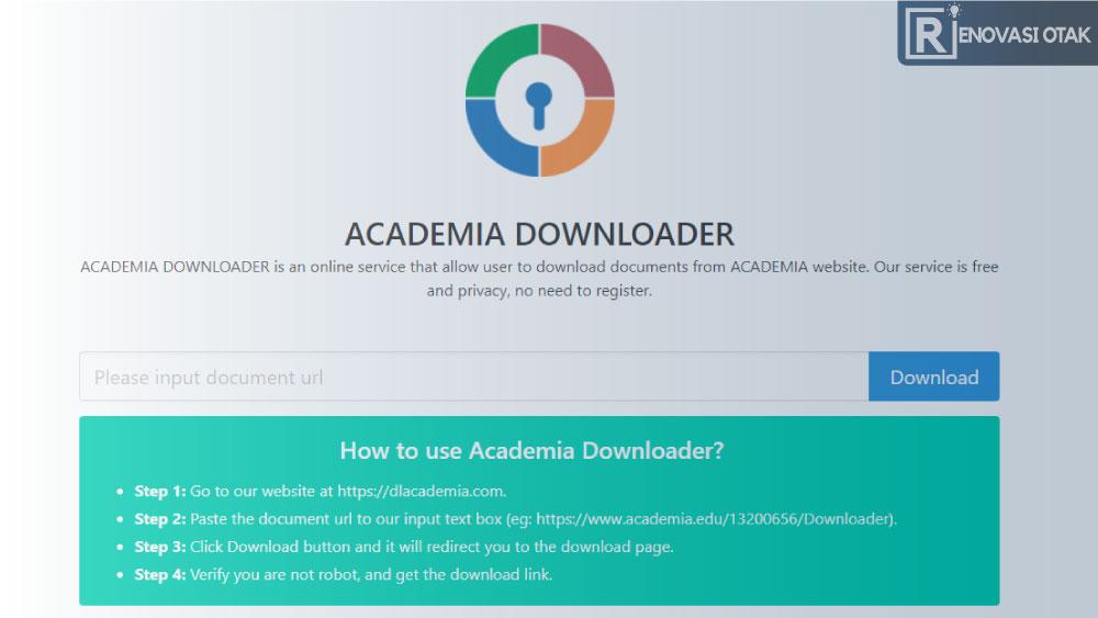 cara download dari academia