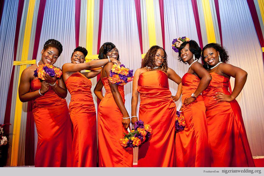 Orange Gown Wedding: Anderson And Heidi Get Married