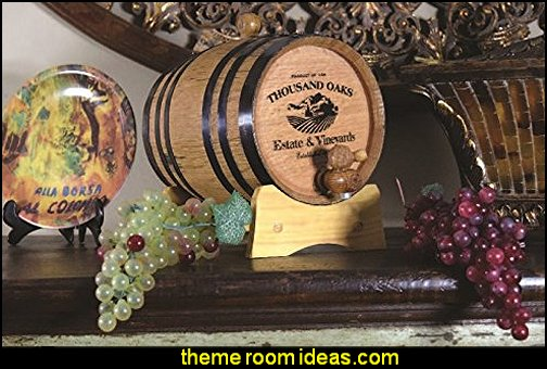 Decorative Wine Barrel  tuscan theme decorating ideas