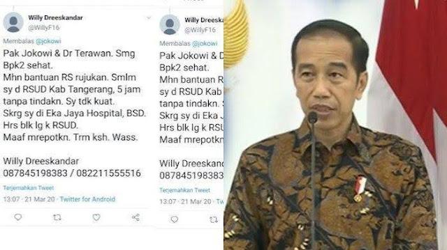 curhatan pasien corona meninggal twitter