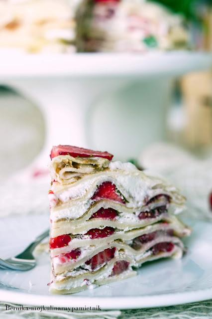 tort, nelsniki, truskawki, deser, mascarpone, bieluch, bernika, kulinarny pamietnik