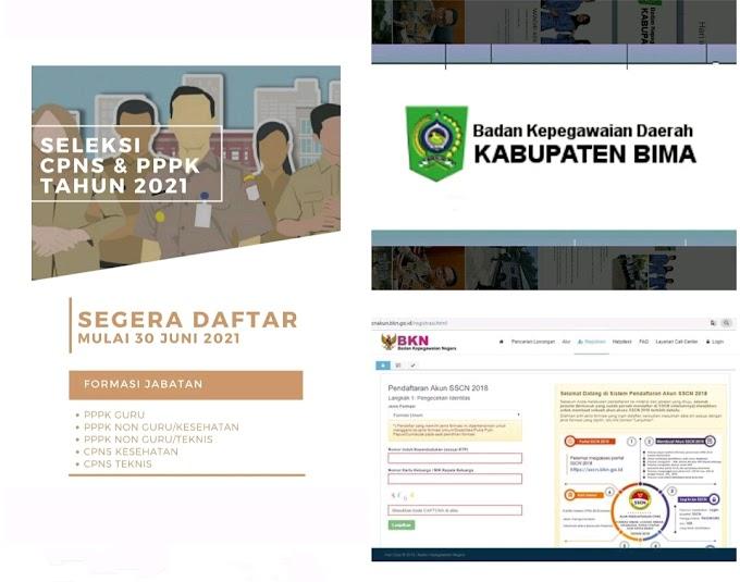 Kabupaten Bima, Buka Seleksi CASN dan PPPK 2021, Intip Pengumuman Formasinya