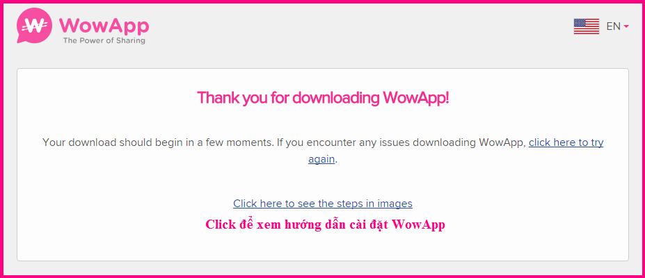 Cài đặt WowApp