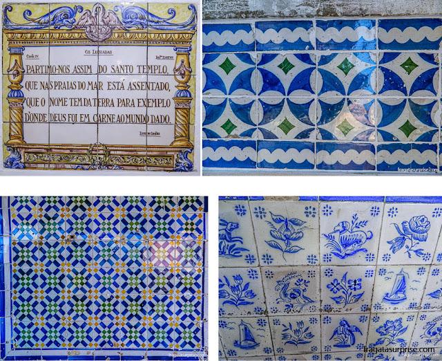 Azulejos portugueses na Fábrica de Pastéis de Belém, Lisboa, Portugal