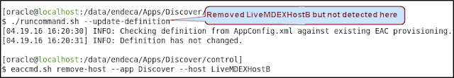 Remove host using eaccmd command