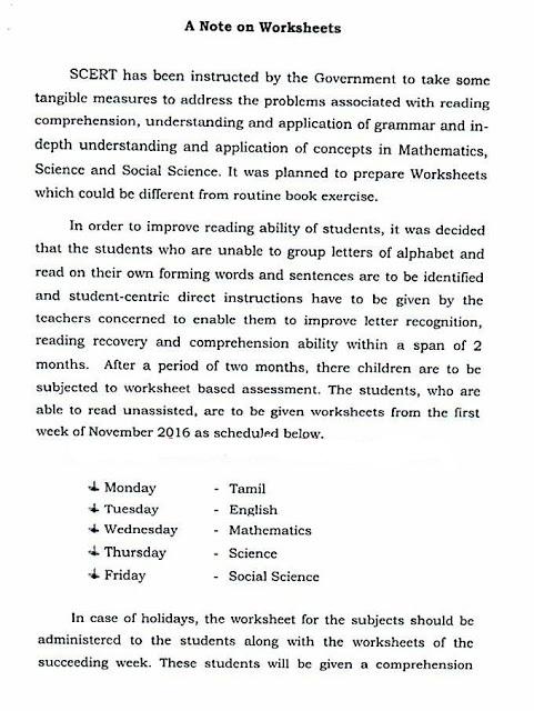 SCERT - CCE Worksheet Administration in All Schools Reg-Schedule ...