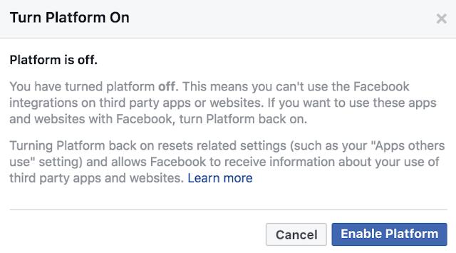 لأن المستخدم اختار عدم استخدام منصة فيسبوك