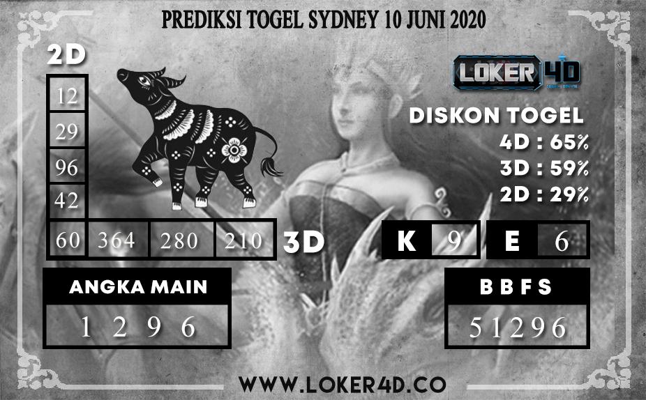 PREDIKSI TOGEL SYDNEY 10 JUNI 2020