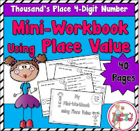 Mini Workbooks using Place Value 4 Digit Numbers