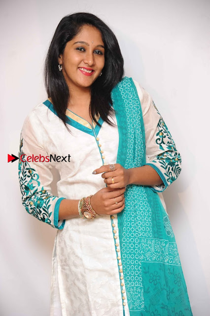Kannada Actress Nikhila Stills in White Embroidery Salwar Kameez at Srinivasa Kalyana Movie Press Meet  0008.jpg