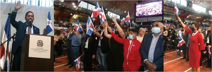"""""""Hablar de dominicanidad es algo sublime"""" exclamó cónsul en NY al juramentar cientos de nuevos ciudadanos junto a Abinader  en el Alto Manhattan"""