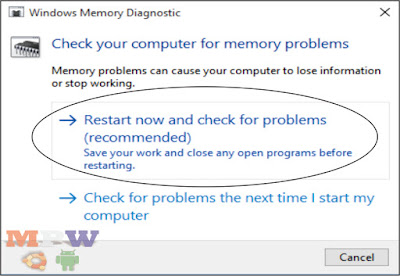 windows memory restart