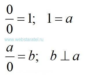 Деление на ноль. Ноль, деленный на ноль равен единице. Величина, деленная на ноль, равна перпендикулярной величине. Математика для блондинок.