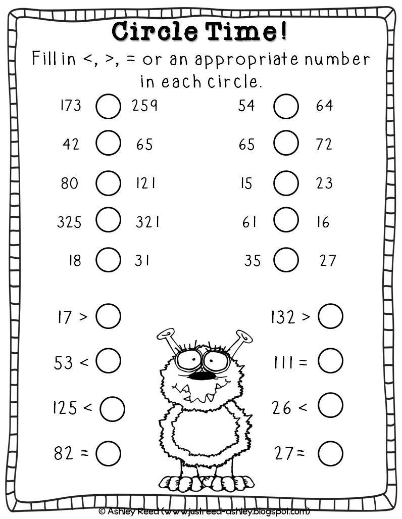 worksheet Greater Than Less Than greater than less with max the math monster just reed it includes an original story written by me character posters a mini book summarizing maxs mix recipe bag toppers
