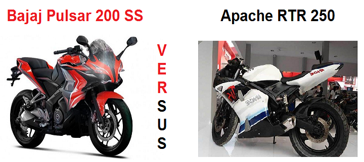 Pulsar 200 SS Vs Apache RTR 250 comparison