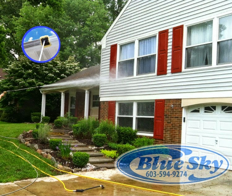 Blue Sky Power Washing is a professional exterior cleaning restoration company