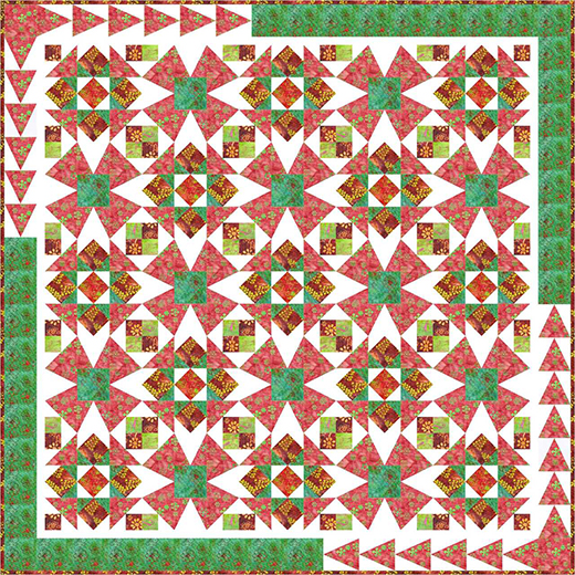 Cactus Flower Quilt designed by Natalie Crabtree featuring Changing Seasons by Jacqueline de Jonge
