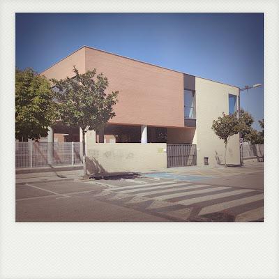 LACAL arquitectura. Arquitectos Granada. Javier Antonio Ros López, arquitecto. Daniel Cano Expósito, arquitecto. Ampliación de IES Alhendín. Fachada a Calle
