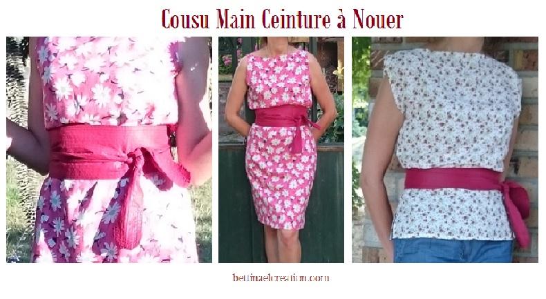 Populaires Couture pour débutants : Ceinture Large à Nouer Bettinael.Passion  WS79