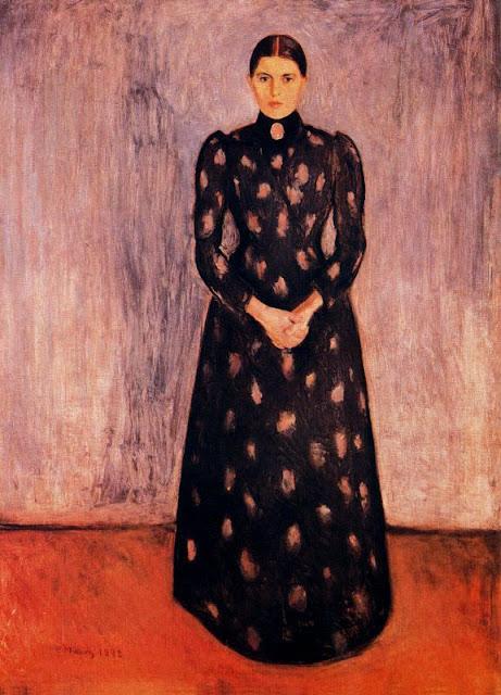 Эдвард Мунк - Портрет Ингер Мунк. 1892