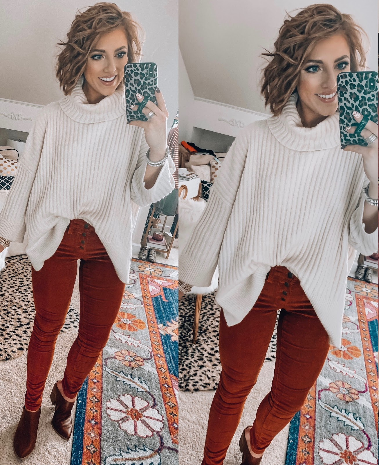 Target Fall Finds: Part Three - 3/4 Sleeve Turtleneck Sweater, Cord Pants - Something Delightful Blog #FallStyle #TargetStye