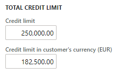 Currency conversion on Customer credit limit