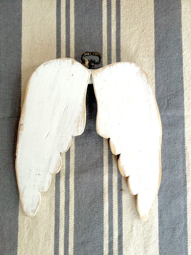 Angel wings made from wood