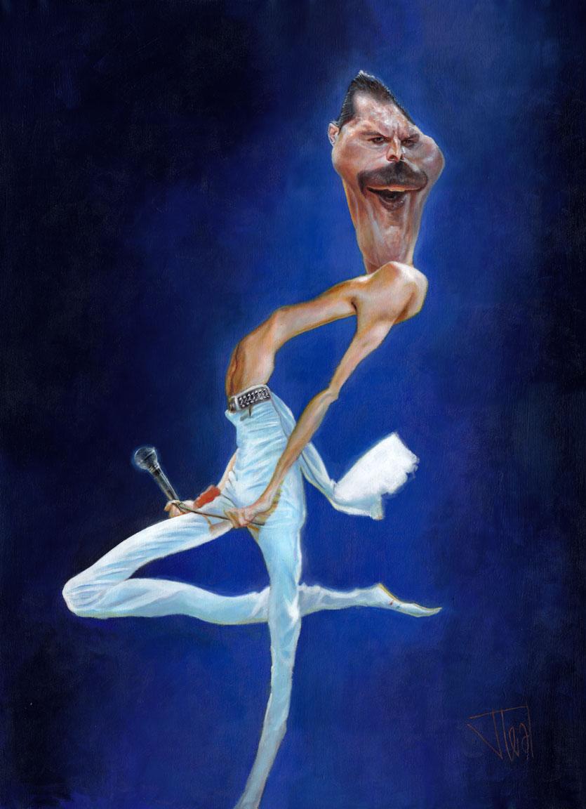 """""""Freddie Mercury"""" por Jota Leal"""