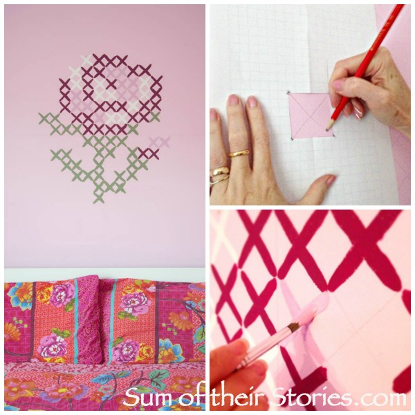 Cross stitch mural tutorial