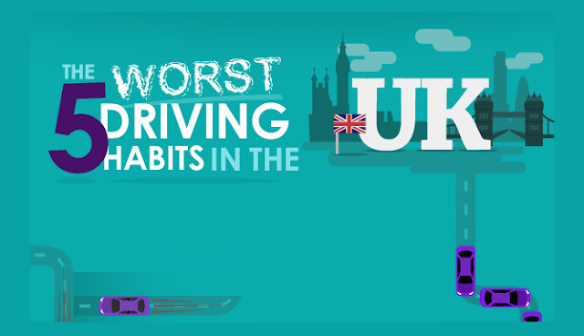The 5 Worst Driving Habits In The UK #Infographic
