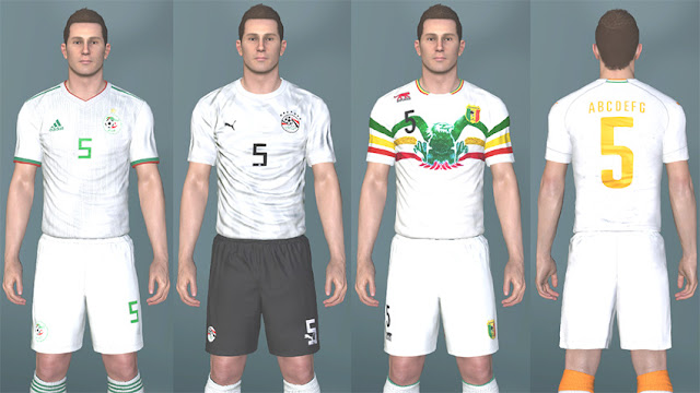 PES 2017 AFCON 2019 Kitpack For All National Teams