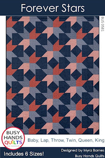 Forever Stars Quilt Pattern by Myra Barnes of Busy Hands Quilts