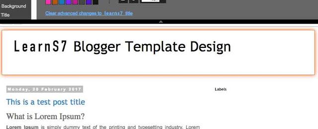 تحديد جزء معين من الصفحة لعمل تغييرات عليه في مصمم بلوجر