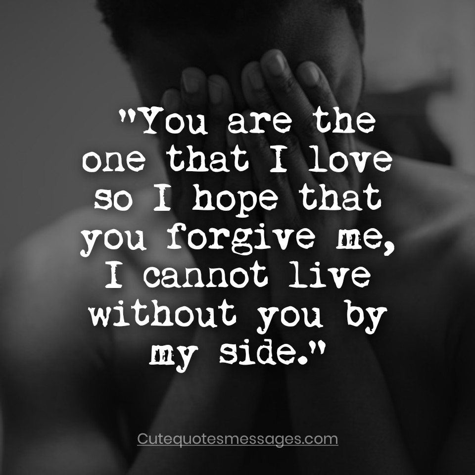 To love sorry saying your Apology Love