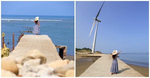 新竹香山海之聲散步吹海風賞海景,大風車下聽海浪的聲音好療癒