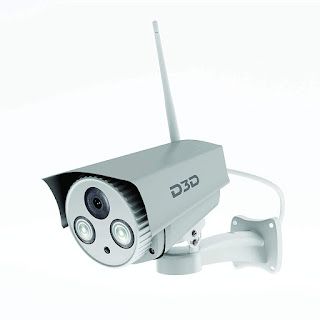 D3D D8862 HD Outdoor WiFi CCTV Security Camera (White) -Online Trade DD