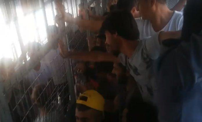 Καζάνι έτοιμο να εκραγεί η Μόρια – Εξαγριωμένοι λαθρομετανάστες πετάνε το φαγητό (Βίντεο)