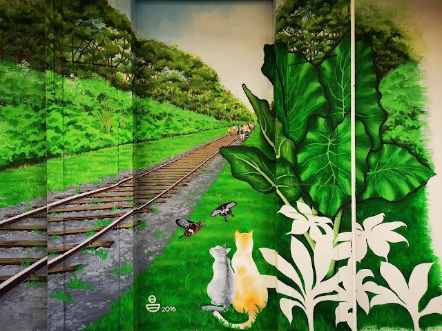 Waterloo Street Mural - Green Corridor