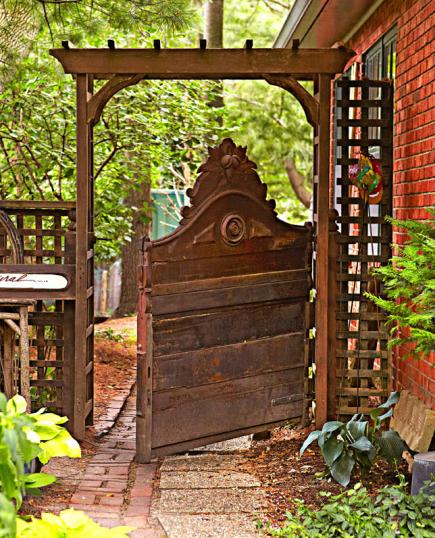 Cottage flavor welcoming garden gates for Garden door designs