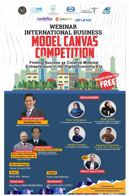 WEBINAR INTERNATIONAL BUSINESS MODEL CANVAS COMPETITION